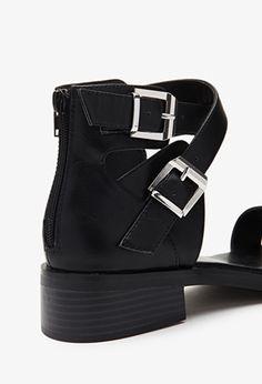 Crisscross Buckled Sandals   FOREVER21 - 2000079214