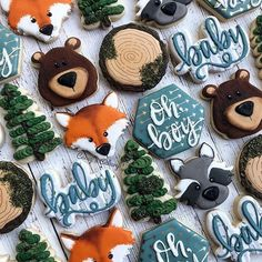 Baby shower ideas for boys themes woodland animals forest friends 40 - www.Naiep.com