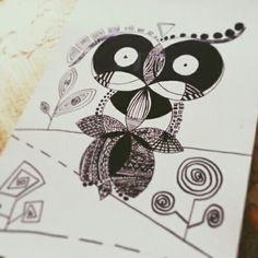 #Owl_black&white