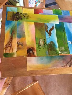 Animal Projects, Projects For Kids, Painting & Drawing, Watercolor Paintings, Wax Crayons, Waldorf Education, Chalk Pastels, Nature Crafts, Zoology