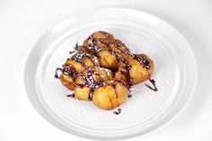 Fried Bananas with Chocolate-Hazelnut Sauce by Fabio Viviani - A decadent desert that will have you going bananas