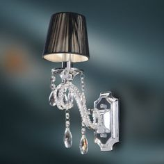 Crystal Wall Lamp - K9 Crystal Chandelier Wall Sconce - Polished Chrome Finish