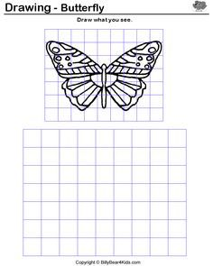 Worksheets Scale Drawing Worksheet scale drawing examples practice worksheet fun project drawings butterfl7 with grid google search lessonsschool projectsmiddle schoolworksheetsscalemath