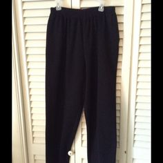 Great Alfred Dunner Black pants Silk lined pockets and elastic in the waist. My Closet Offers❤️25% off bundle of 2 or more. Alfred Dunner Pants