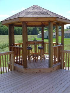 This is still one of our favorite deck projects we worked on, the octagon gazebo turned out fantastic!