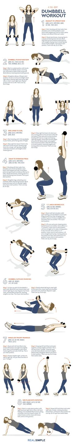 Need the best dumbbell exercises to get fit in the gym or at home? Look no further than this lineup of the best dumbbell exercises. These dumbbell exercises are the only weight exercises you'll ever need.