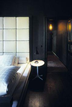 Dark Bedroom: The Berlin apartment of German set designer Sylvester Kozioleks  I love this dark room...very cozy