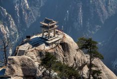 Mount Hua (or Hua Shan in Chinese) is situated in the Shaanxi province not far from the city Huayin,China. Description from amazingplacesonearth.com. I searched for this on bing.com/images