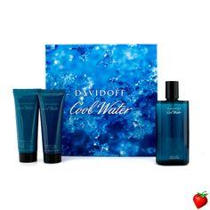 Davidoff Cool Water Coffret: Edt Spray 125ml/4.2oz + After Shave Balm 75ml/2.5oz + Shower Gel 75ml/2.5oz 3pcs #Davidoff #Cologne #Valentine #Men #StrawberryNET #Giveaway #GiftSet