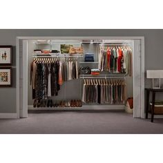shelftrack closet organizer kit offers configuration and shelf adjustability for a custom fit when assembled the closet organizers total dimensions are
