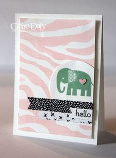 Stampin Up kids card using It's Wild and Zoo Babies stamp sets. Card by Claire Daly Stampin Up Melbourne Australia
