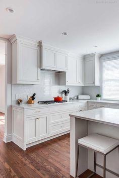 Kitchen With Walnut Island In Madison New Jersey Https Www