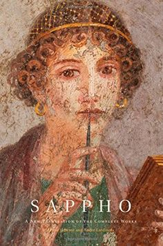 Roman Fresco in ancient Pompeii. The so-called Sappho girl. This famous Fresco was discovered in June and has remained one of the most famous female portraits from Pompeii. Pompeii Italy, Pompeii And Herculaneum, Rome Antique, Art Antique, Roman History, Art History, Ancient Rome, Ancient History, Art Ancien
