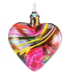 Mt. St. Helens Ash Hand Blown Glass Heart Ornament - ❤ Could this be done with the ashes of your remains after passing? If so, THIS is what I want for my kids. Turn me into a piece of jewelry that you'll love forever. <3 Cyn