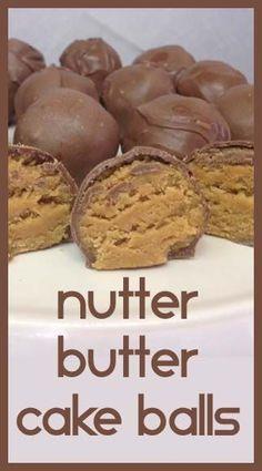 Nutter Butter Cake Balls- Easy