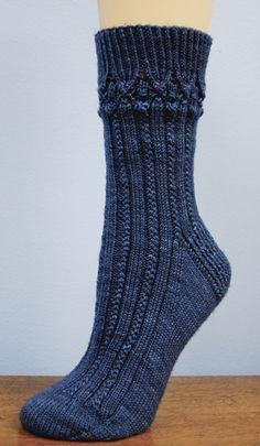 Lisette Socks pattern by Jeni Chase
