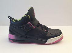 Nike Air Jordan Flight 45 Black China Rose White 364757 063 Youth Girls Sz 6.5Y #Nike #Athletic