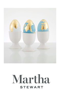 Gorgeous gilded eggs using Martha Stewart acrylic paint and gilding! Acrylic Craft Paint, Martha Stewart Crafts, Pencil Eraser, Bunny Crafts, Egg Cups, Blooming Flowers, Easter Baskets, Easter Eggs, Crafts For Kids