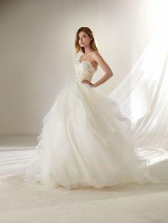 Draval: Vestido de noiva saia com volume tamanho pequeno Pronovias | Pronovias