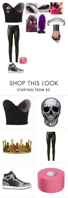 """""""Perry- Ringside for Gallows,Anderson and the Shining Stars"""" by princess-nikki123 ❤ liked on Polyvore featuring Yves Saint Laurent, NIKE and TIARA"""