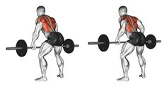 Bent-over barbell row exercise guide and video Build your entire back and improve your upper-body and grip strength with the bent-over barbell row, a major compound pull exercise! Good Back Workouts, Back Exercises, Fun Workouts, Training Exercises, Fitness Exercises, Latissimus Dorsi, Bent Over Rows, Back And Biceps, Back Workouts