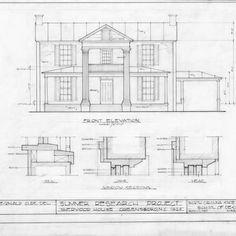 Front elevation and window details,  Sherwood House, Greensboro, North Carolina