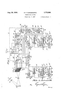 Patent US1773980 - TELEVISION SYSTEM - Google Patents