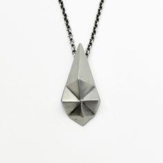 staurolite silver necklace