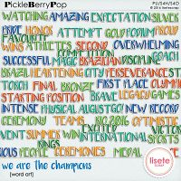 We are teh champions word art. 58 elements .png, 300 dpi