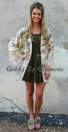 Always and Forever Rose Floral Kimono | $39.95