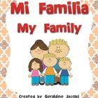 Memory game with vocabulary cards(English-Spanish), plus a booklet to interview family members! Fun!