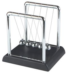 Young explorers love Roberson Museum and Science Center's vast selection of science toys and kits!  Newton`s Cradle Physics Science Kit.