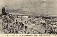 Siège de Paris 1870-1871. Vue de la Butte Montmartre.