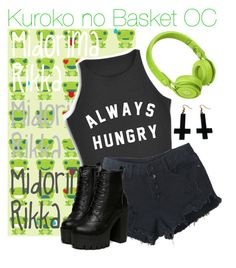 """""""::oc tag // midorima rikka::"""" by indigo-butterfly ❤ liked on Polyvore featuring Beats by Dr. Dre and Chicnova Fashion"""