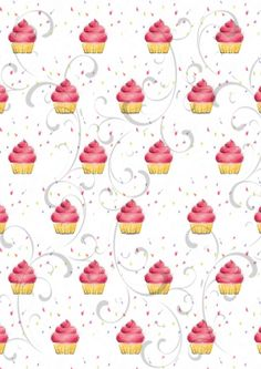 SIMPLY CRAFTS  Cupcake Background #2
