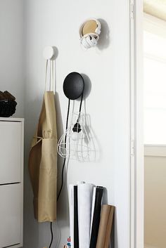 """""""The Dots"""" Coat Hooks available from http://www.zoma.co.uk/shop/other/muuto-the-dots-coat-hooks-set-natural-oak/"""