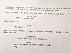 BBC Rough Draft. Hitler was a Sherlock fan.