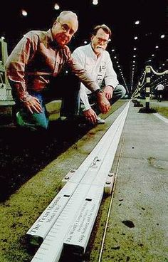 Texas Magnum  World's Longest Slide Rule  (352 feet long, 300 pounds)