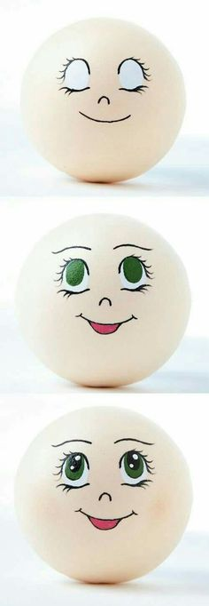 Clay pots can be used for so m Clay Pot Crafts, Rock Crafts, Diy And Crafts, Arts And Crafts, Flower Pot People, Clay Pot People, Doll Face Paint, Face Template, Snowman Faces
