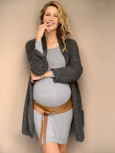 Long #gilet pailleté tricot #grossesse, Future #Maman - Collection Colline automne hiver 2014 - www.vertbaudet.fr