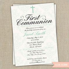 First communion baptism christening invitation boy or by ElleOL, $16.00