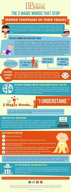 I'm so tired of temper tantrums. Great infographic on 2 Magic Words That Stop Temper Tantrums for good!