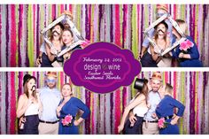 Sarasota Photo Booth, DIY streamer backdrop, creative event photos