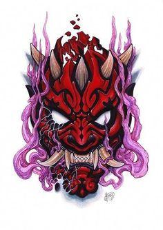 Oni Tattoo, Hanya Tattoo, Skull Tattoos, Japanese Tattoo Designs, Japanese Tattoo Art, Tattoo Sketches, Tattoo Drawings, Samourai Tattoo, Totenkopf Tattoos