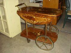 Stunning inlaid tea cart!!!