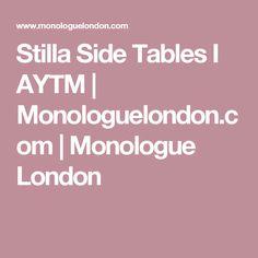 Stilla Side Tables I AYTM | Monologuelondon.com | Monologue London