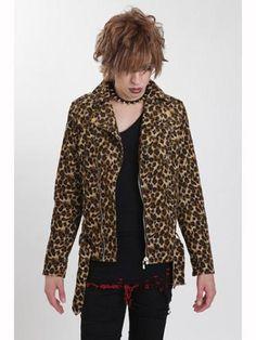 LEOPARD CORDUROY Riders Jacket Beige. See more at: http://www.cdjapan.co.jp/apparel/juryblack.html #punk #jrock