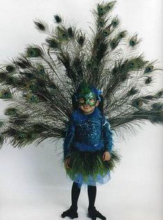 Ideas para un disfraz de pavo Real | Disfraz casero - Girl's peacock costume