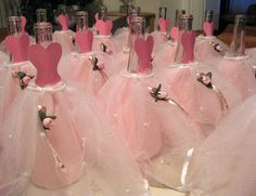 how to make a dressed bottle centerpiece for quincenera | photo
