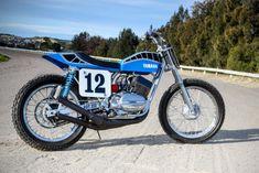 Smoking hot: Peter Rowland's Yamaha RD350 dirt tracker.